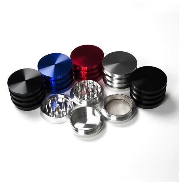 Atomic Aluminium Grinder 4 Teile 4 Farben sortiert 6 Stück