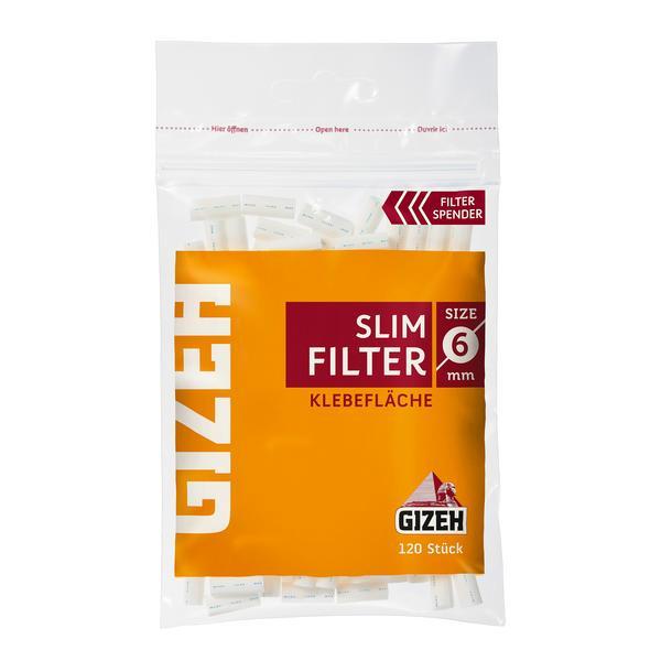 Gizeh Slim Filter sechs mm mit Klebefläche (20 x 120 Stück)