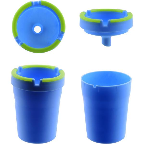 Atomic Aschenbecher Glow, 4 farbig Nylon sortiert 12 Stück