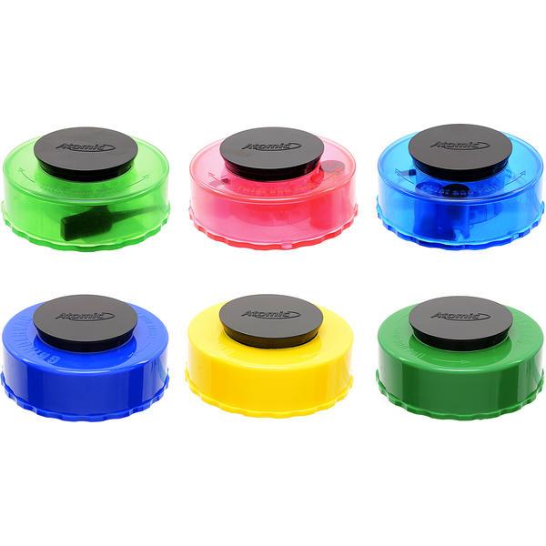 Atomic Kunststoff Vacuum Grinder 6 Farben Sortiert 12 Stück
