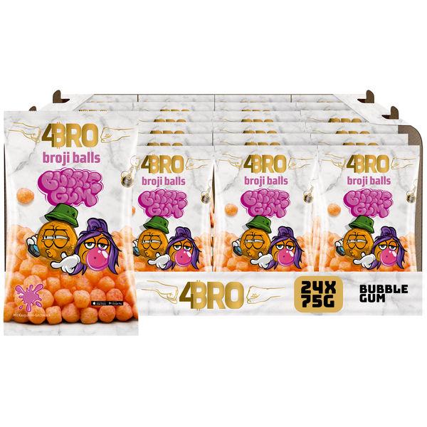 4BRO broji balls Mais-Snack mit Bubble-Gum Geschmack