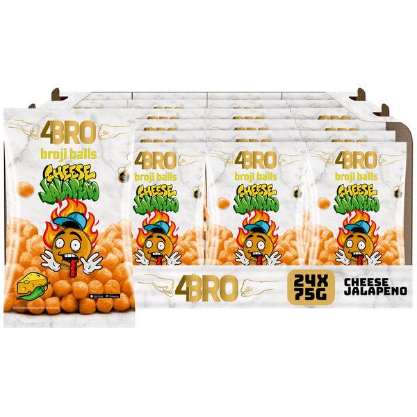 4BRO broji balls Mais-Snack mit Cheese Jalapeno Geschmack