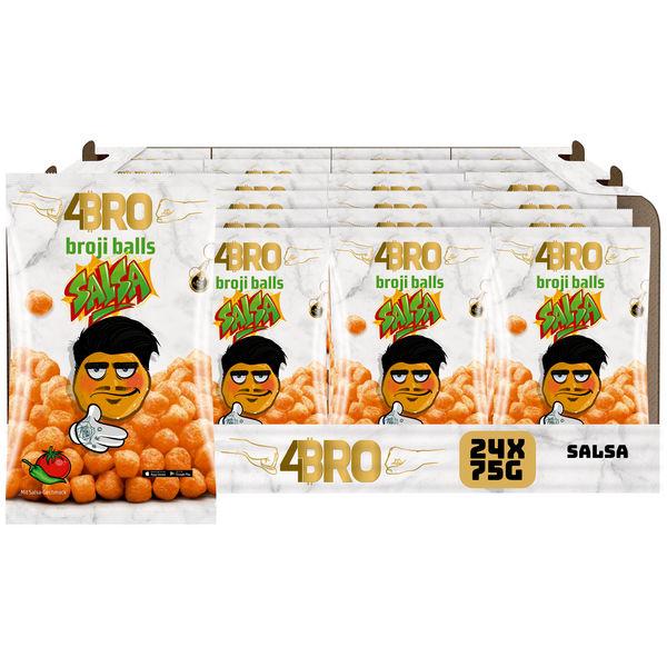 4BRO broji balls Mais-Snack mit Salsa Geschmack