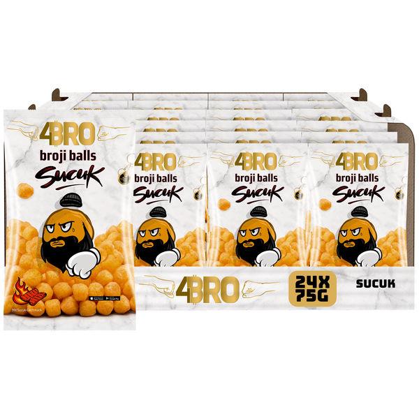 4BRO broji balls Mais-Snack mit Sucuk Geschmack