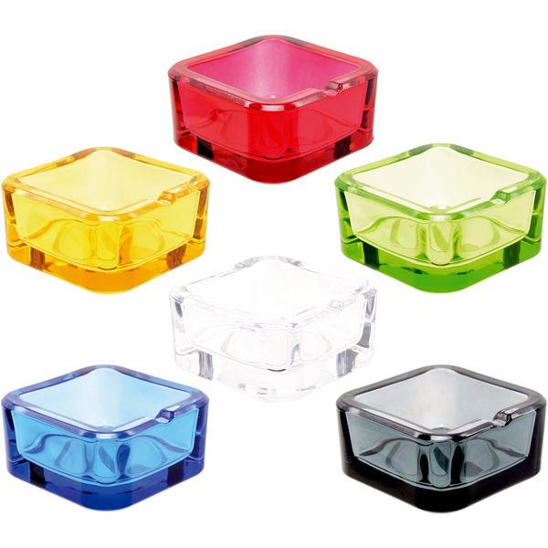 Atomic Aschenbecher aus Glas in Crystal-Optik 6 Farben Sortiert 6 Stück